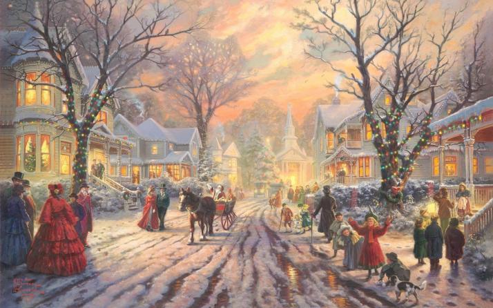 A Victorian Christmas Carol, Thomas Kinkade