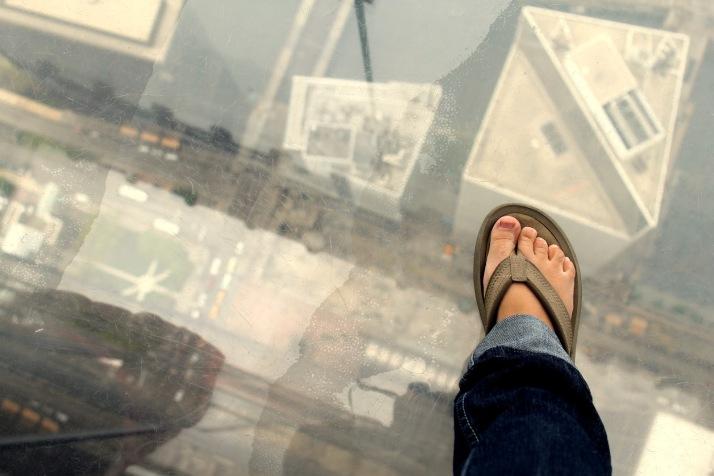 SkyDeck Chicago sky ledge foot
