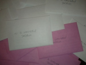 letters for wounded soldiers