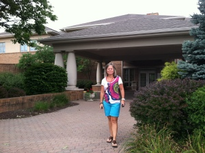 Shelly - front of Hospice