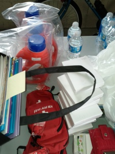 Tide water and first aid kits